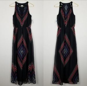 OLD NAVY Diamond Print Maxi Dress Sz M